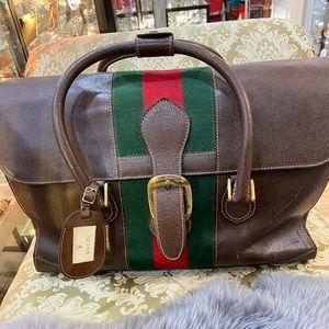 ❤️soldVintage Gucci Web Doctor Bag